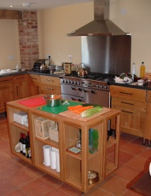 A picture of the Kitchen facilities at Anstey Grove Barn, bed and breakfast and self-catering accommodation in Hertfordshire